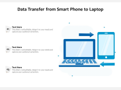 Data Transfer From Smart Phone To Laptop Ppt PowerPoint Presentation Infographics Introduction PDF