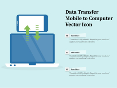 Data Transfer Mobile To Computer Vector Icon Ppt PowerPoint Presentation File Microsoft PDF