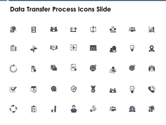 Data Transfer Process Icons Slide Arrows Ppt PowerPoint Presentation Ideas Outline