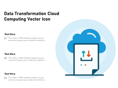 Data Transformation Cloud Computing Vector Icon Ppt PowerPoint Presentation File Example PDF