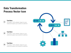 Data Transformation Process Vector Icon Ppt PowerPoint Presentation File Inspiration PDF