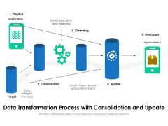 Data Transformation Process With Consolidation And Update Ppt PowerPoint Presentation Gallery Information PDF