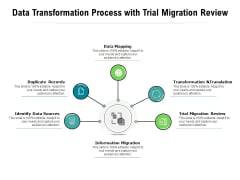 Data Transformation Process With Trial Migration Review Ppt PowerPoint Presentation Gallery Influencers PDF