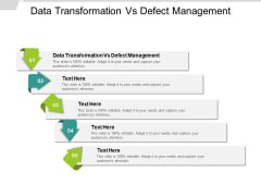 Data Transformation Vs Defect Management Ppt PowerPoint Presentation Show Display Cpb