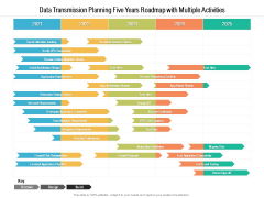 Data Transmission Planning Five Years Roadmap With Multiple Activities Professional