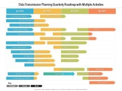 Data Transmission Planning Quarterly Roadmap With Multiple Activities Icons