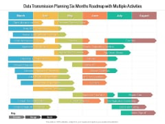 Data Transmission Planning Six Months Roadmap With Multiple Activities Mockup