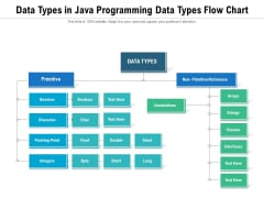 Data Types In Java Programming Data Types Flow Chart Ppt PowerPoint Presentation File Summary PDF