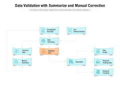 Data Validation With Summarize And Manual Correction Ppt PowerPoint Presentation Summary Graphics Design PDF