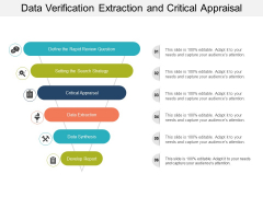 Data Verification Extraction And Critical Appraisal Ppt PowerPoint Presentation Slides Graphic Images