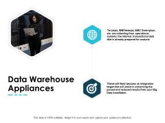 Data Warehouse Appliances Arrows Ppt PowerPoint Presentation Portfolio Model