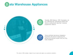 Data Warehouse Appliances Targets Ppt PowerPoint Presentation Professional Format Ideas