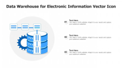 Data Warehouse For Electronic Information Vector Icon Ppt PowerPoint Presentation Gallery Skills PDF
