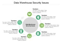 Data Warehouse Security Issues Ppt PowerPoint Presentation Inspiration Master Slide Cpb Pdf