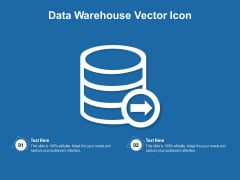 Data Warehouse Vector Icon Ppt PowerPoint Presentation File Designs PDF