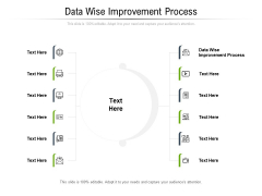 Data Wise Improvement Process Ppt PowerPoint Presentation Layouts Show Cpb Pdf
