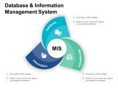 Database And Information Management System Ppt PowerPoint Presentation Styles Ideas