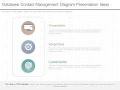 Database Contact Management Diagram Presentation Ideas