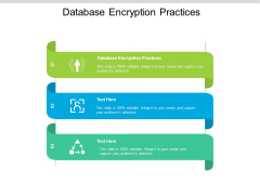 Database Encryption Practices Ppt PowerPoint Presentation Outline Guidelines Cpb Pdf