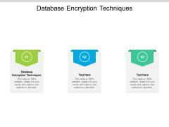 Database Encryption Techniques Ppt PowerPoint Presentation Layouts Design Templates Cpb Pdf