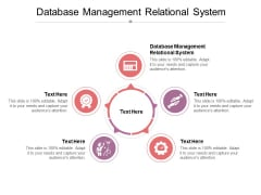 Database Management Relational System Ppt PowerPoint Presentation Slides Layout Ideas Cpb