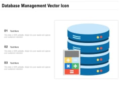 Database Management Vector Icon Ppt PowerPoint Presentation Ideas Professional PDF