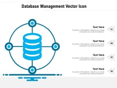 Database Management Vector Icon Ppt PowerPoint Presentation Pictures Microsoft PDF