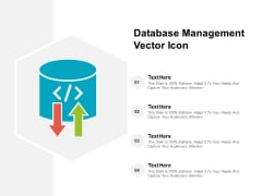 Database Management Vector Icon Ppt PowerPoint Presentation Professional Format Ideas