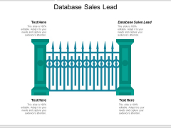 Database Sales Lead Ppt PowerPoint Presentation Outline Examples Cpb