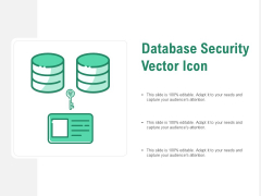 Database Security Vector Icon Ppt PowerPoint Presentation Gallery Maker