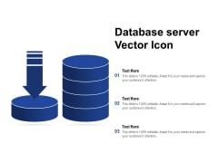 Database Server Vector Icon Ppt PowerPoint Presentation Slides Guidelines