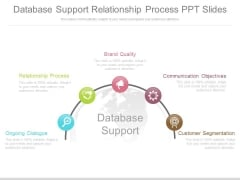 Database Support Relationship Process Ppt Slides