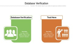 Database Verification Ppt PowerPoint Presentation Gallery Slides Cpb Pdf
