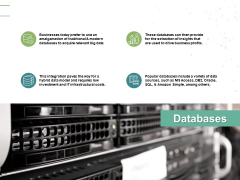 Databases Gears Storage Ppt PowerPoint Presentation Gallery Topics