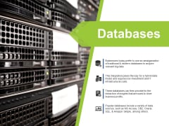 Databases Ppt PowerPoint Presentation Model Background Designs