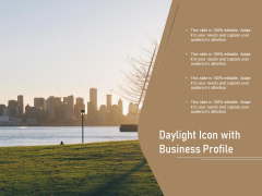 Daylight Icon With Business Profile Ppt PowerPoint Presentation File Gallery PDF