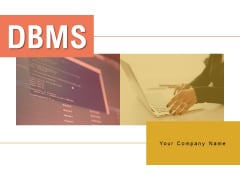 Dbms Management Information Ppt PowerPoint Presentation Complete Deck