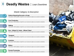 Deadly Wastes Lean Downtime Ppt PowerPoint Presentation Slides Objects