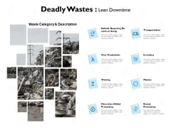 deadly wastes lean downtime ppt powerpoint presentation styles design ideas