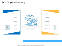 Deal Assessment Audit Process Due Diligence Summary Background PDF