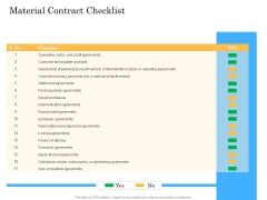 Deal Assessment Audit Process Material Contract Checklist Guidelines PDF