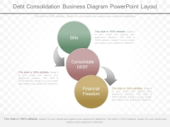 Debt Consolidation Business Diagram Powerpoint Layout