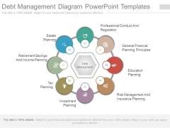 Debt Management Diagram Powerpoint Templates
