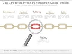 Debt Management Investment Management Design Templates