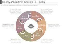 Debt Management Sample Ppt Slide