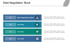 Debt Negotiation Book Ppt PowerPoint Presentation Visual Aids Portfolio