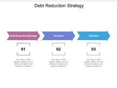 Debt Reduction Strategy Ppt PowerPoint Presentation Outline Outfit Cpb