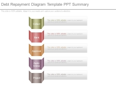 Debt Repayment Diagram Template Ppt Summary