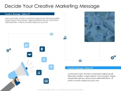 Decide Your Creative Marketing Message Mockup PDF