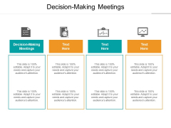 Decision Making Meetings Ppt PowerPoint Presentation Gallery Sample Cpb
